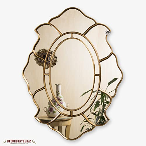 Amazoncom Gold Oval Accent Wall Mirror Decorative Oval Mirror For