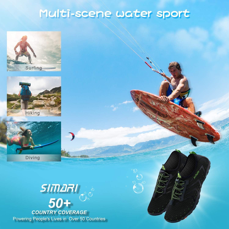 SIMARI Mens Womens Water Shoes Sports Quick Dry Barefoot Diving Swim Surf Aqua Walking Beach Yoga