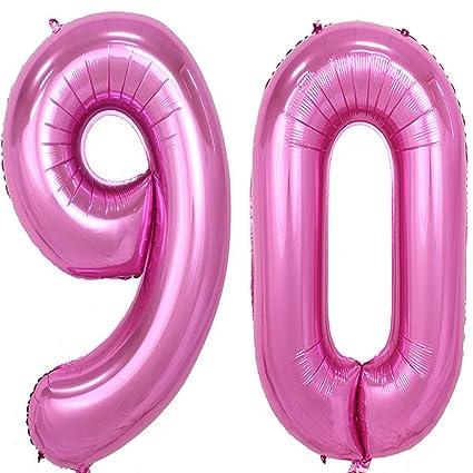 Amazon 40inch Pink Foil 90 Helium Jumbo Digital Number Balloons