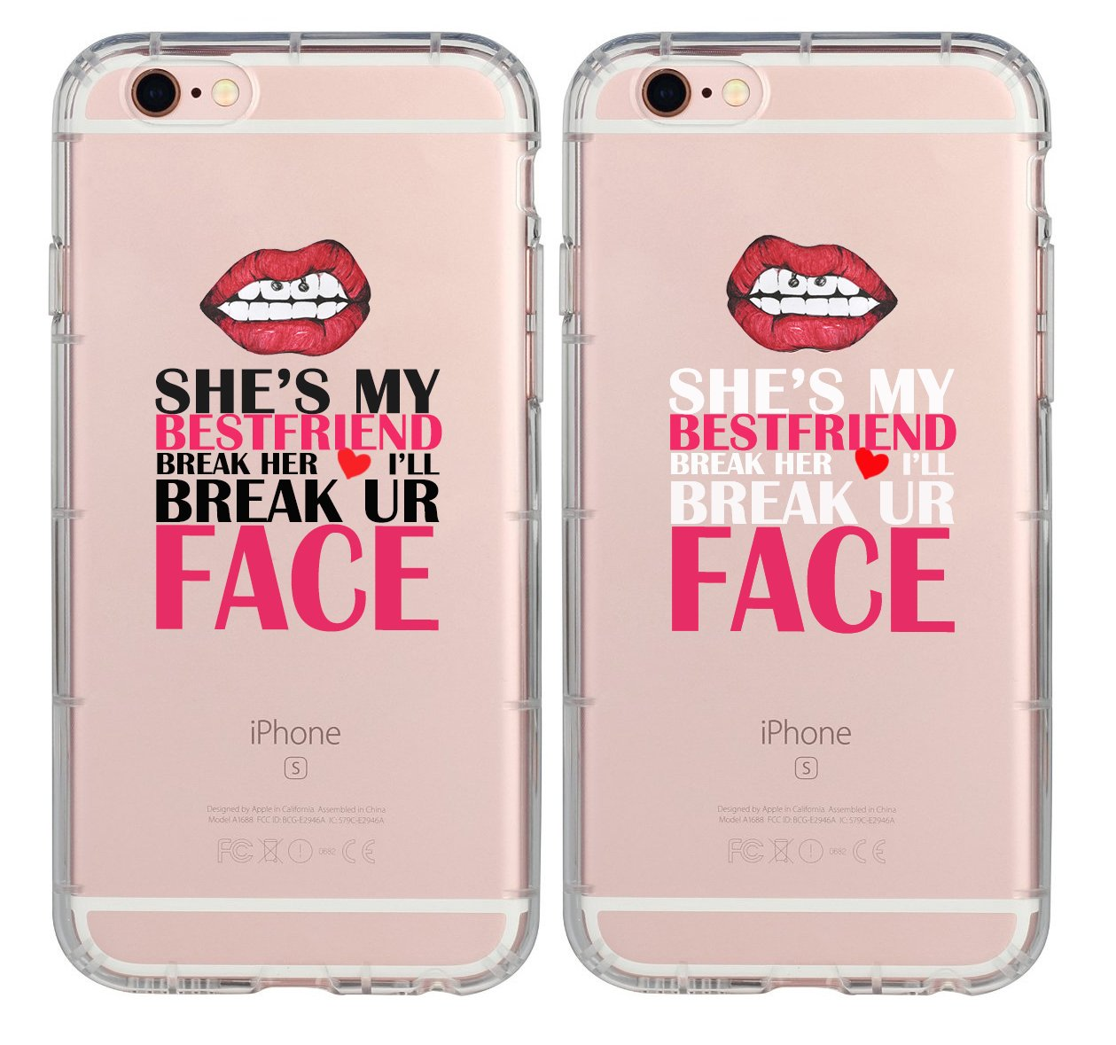 Couple Case Bff Best Friends Every Blonde Needs A Brunette Break Her Heart I Ll Break Your Face Cute Sister Cousins Funny Matching Thing Cases Girls Teens Compatible For Iphone 8 Iphone 7 Iphone 6 Buy