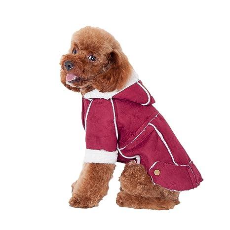 Aiusper Chihuahua French Bulldog Pug Yorkshire - Abrigo de lana cálida para mascotas (dos patas