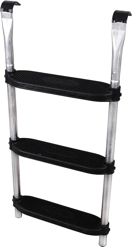 Ampel 24 - Escalera para Cama elástica | ca 86 cm | 3 escalones Anchas | facilita la montada en el trampolín | Plata: Amazon.es: Jardín