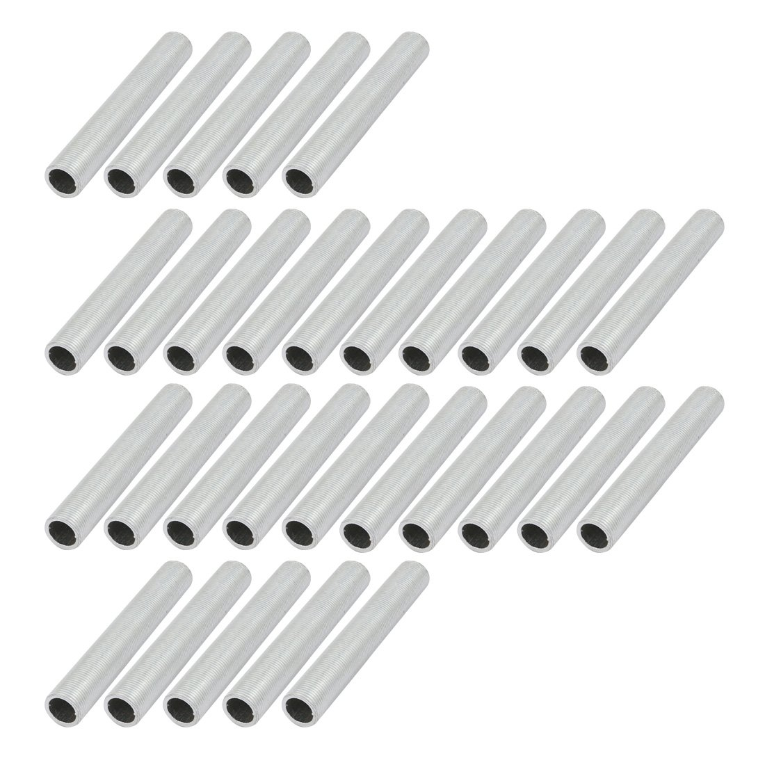 uxcell 30 Pcs Metric M14 1mm Pitch Thread Zinc Plated Pipe Nipple Lamp Parts 90mm Long