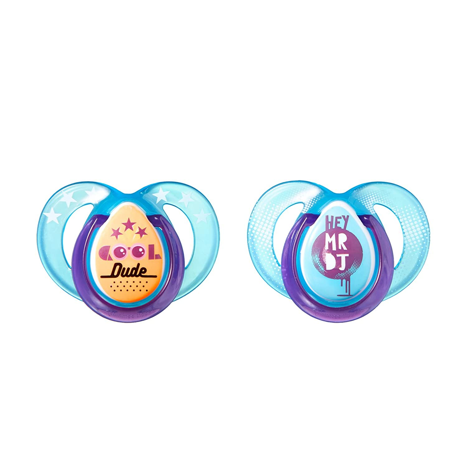 2 Count// BPA-Free Boy Colors May Vary Bottle Shapped Nipple,//0-6 Months Tommee Tippee Closer to Natire Everyday Pacifier