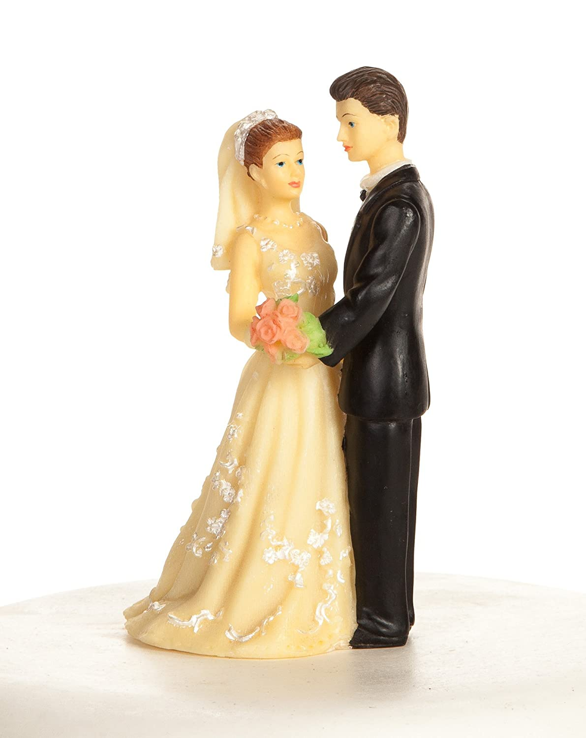 Amazon.com: Vintage 1970s Bride and Groom Wedding Cake Topper ...