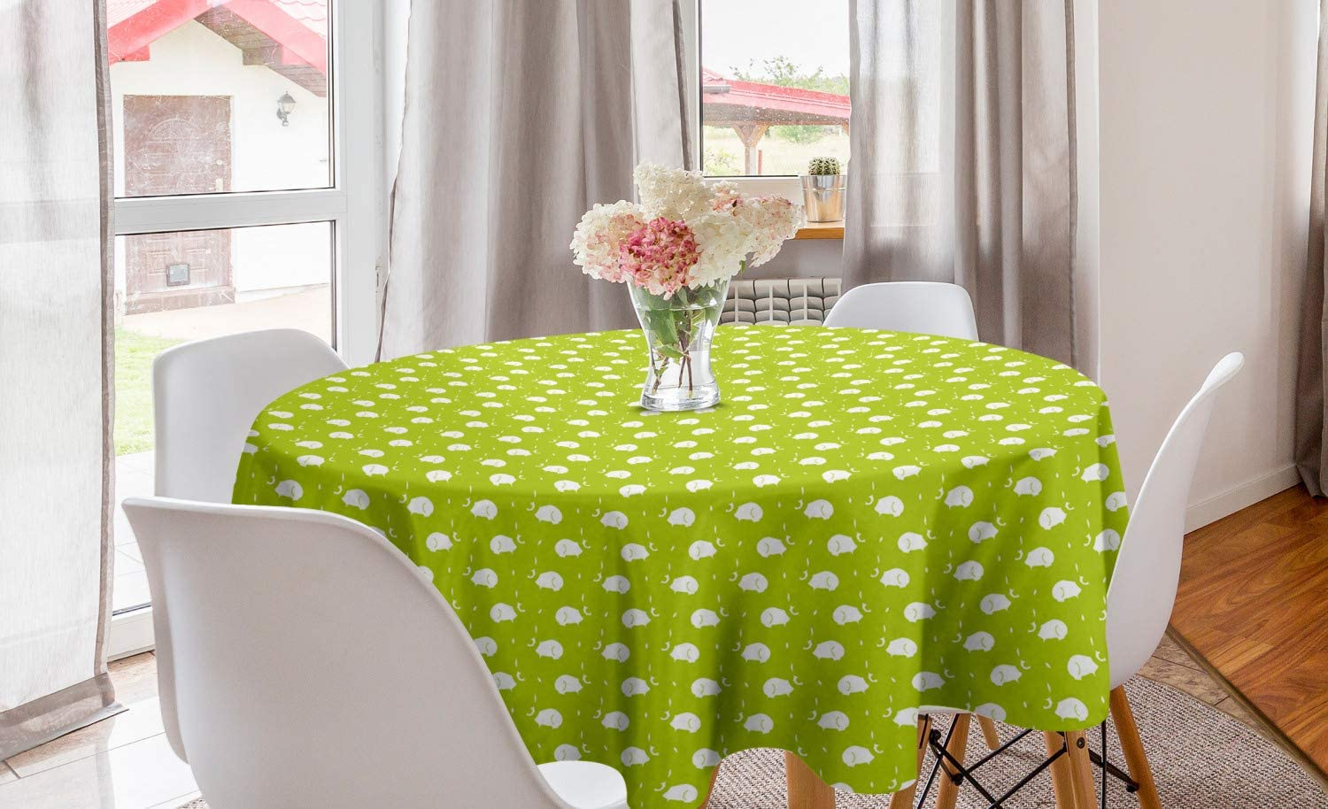 """In the Garden Flower Floral Butterfly Spring Party 60/"""" Round Vinyl Tablecover"""