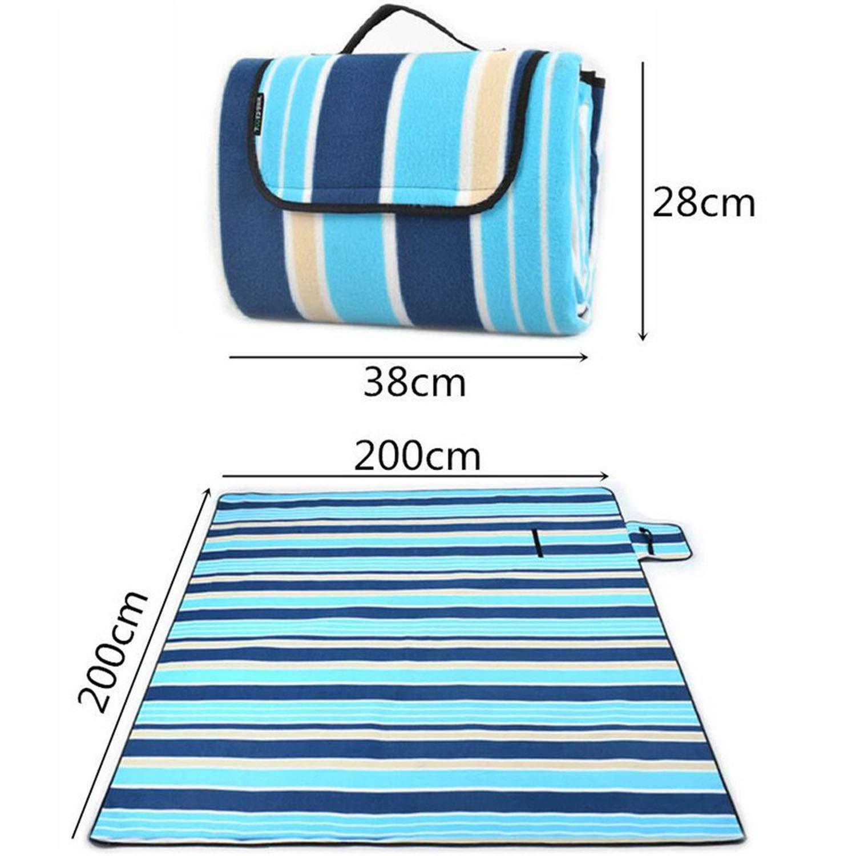 FLDONG Wasserdichte Campingmatte 200 200 200 x 200 cm feuchtigkeitsdichte Picknickmatte Strandmatte faltbar Outdoor Strand Intex Decke Baby Klettermatratze 4 Farben 03 B07Q2KNQR5 | Neues Design  fbb159