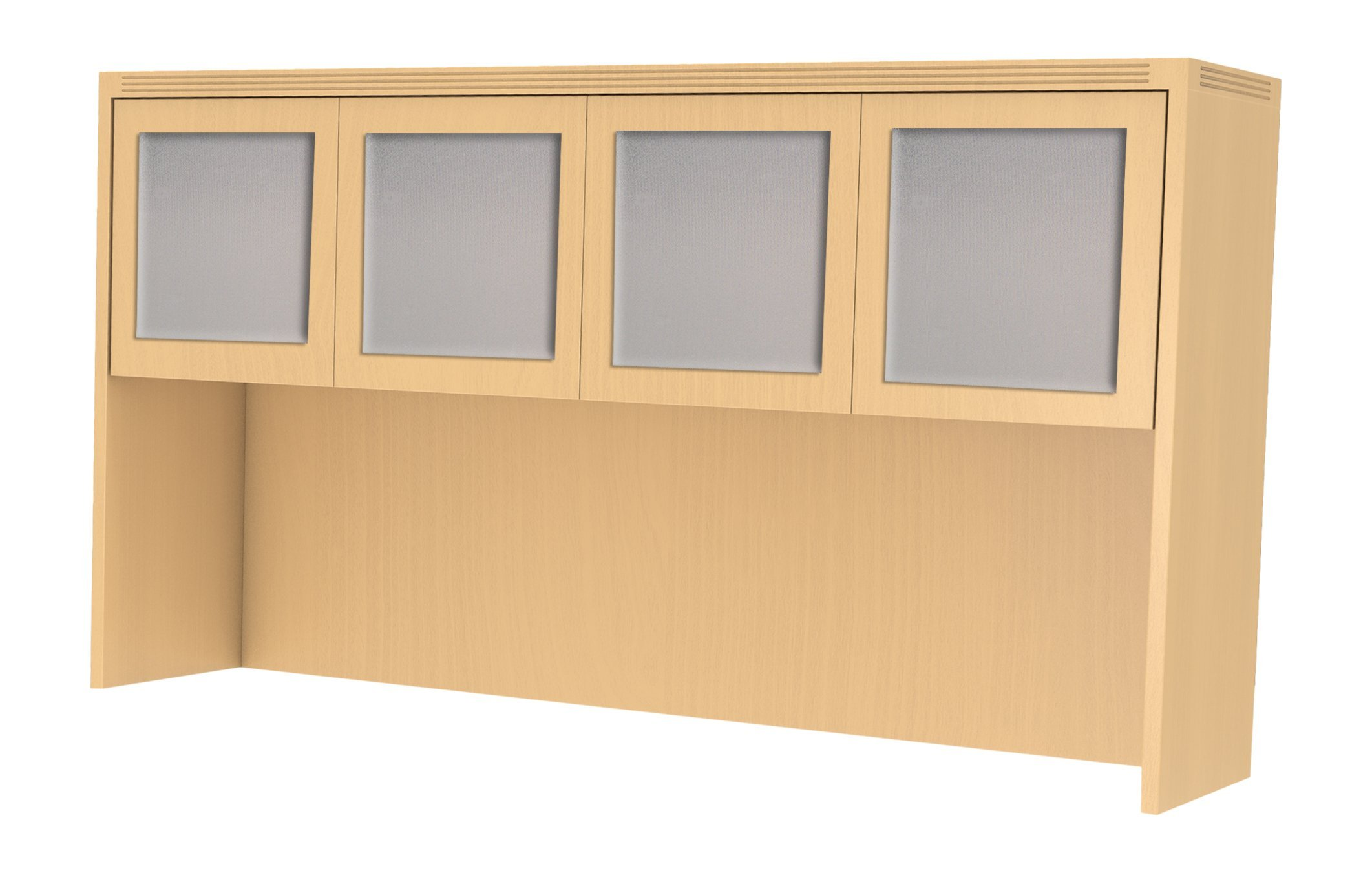 Mayline AHG72LMA Aberdeen 72'' Hutch Cabinet with Glass Doors, Maple Tf by Safco