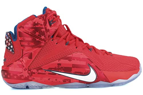 quality design b576f 00653 Mens Lebron Xii Usa Independence Day White Crimson Blue 684593-616 Us 12   Amazon.co.uk  Shoes   Bags