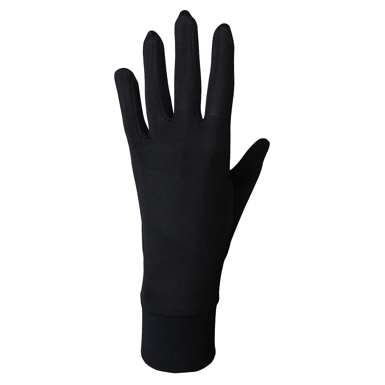 JASMINE SILK guantes de seda puras térmicas Guantes del ciclo Liner Guante Interior Ski Bike Negro: Amazon.es: Deportes y aire libre