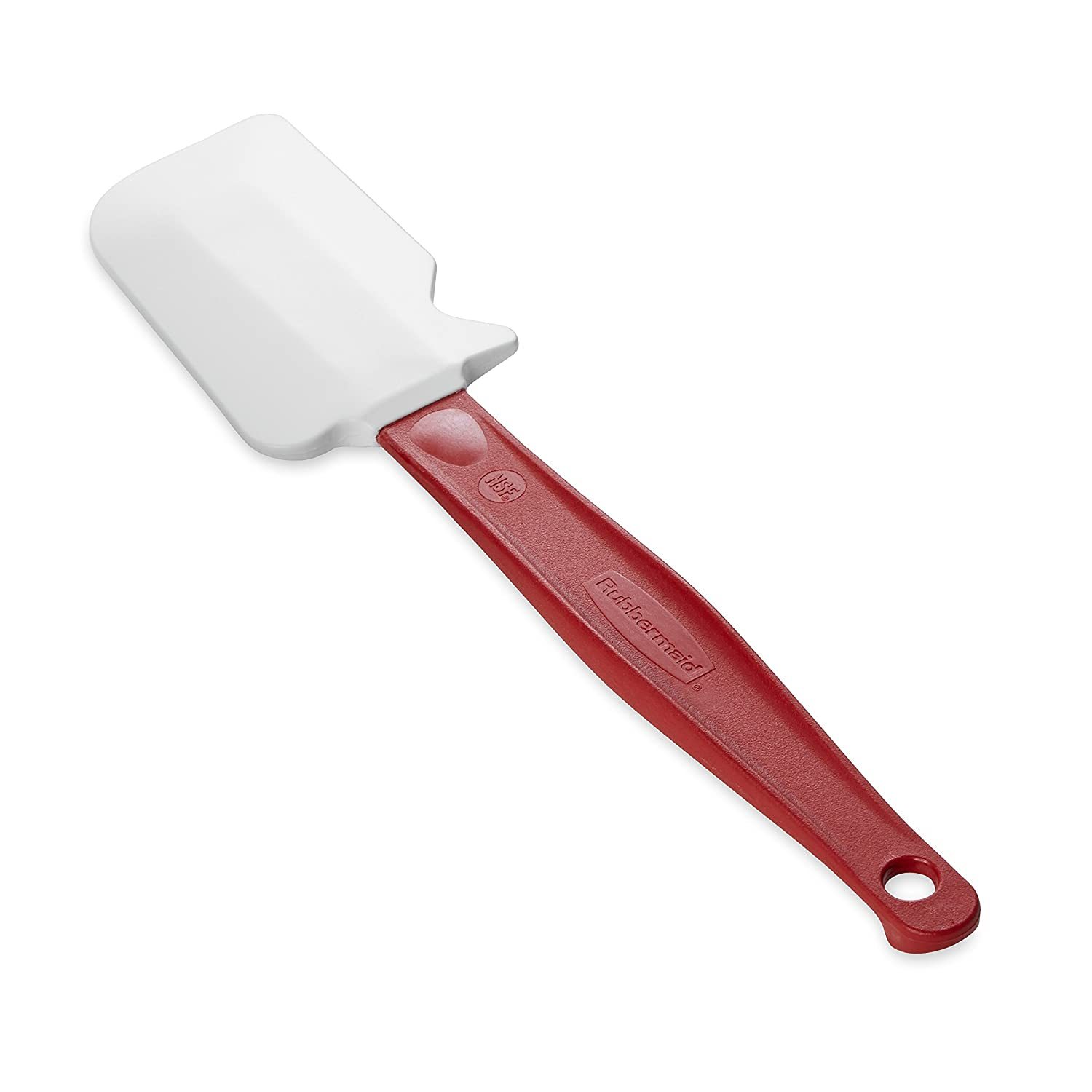 "Rubbermaid Commercial Products FG1962000000 High Heat Silicone Spatula, 9.5"", Red Handle"