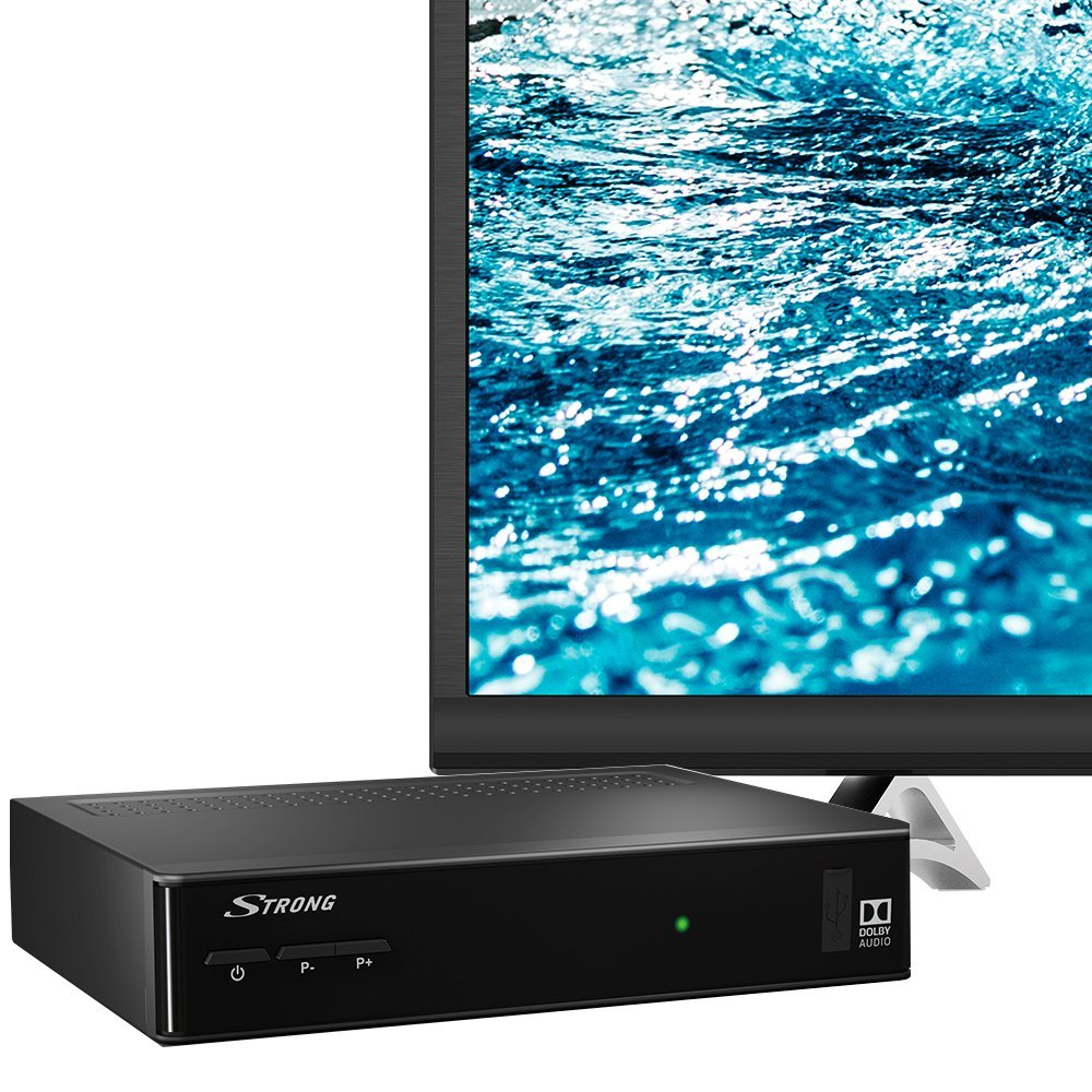 STRONG SRT 7501 HD Satelliten Receiver f/ür ORF-Karte DVB-S2 Full HD HDTV, HDMI, SCART, USB, Koaxialausgang schwarz