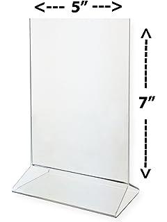 Amazon.com : Marketing Holders 4 X 6 Acrylic Sign Holder Crystal ...