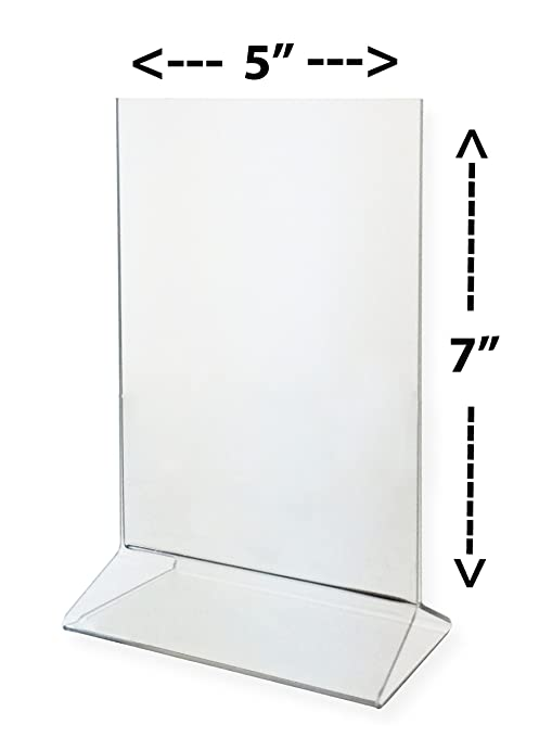 Marketing Holders Sign Holder 5x7 Acrylic Table Top Tent - Clear Display Card Holder Lot  sc 1 st  Amazon.com & Amazon.com: Marketing Holders Sign Holder 5x7 Acrylic Table Top ...