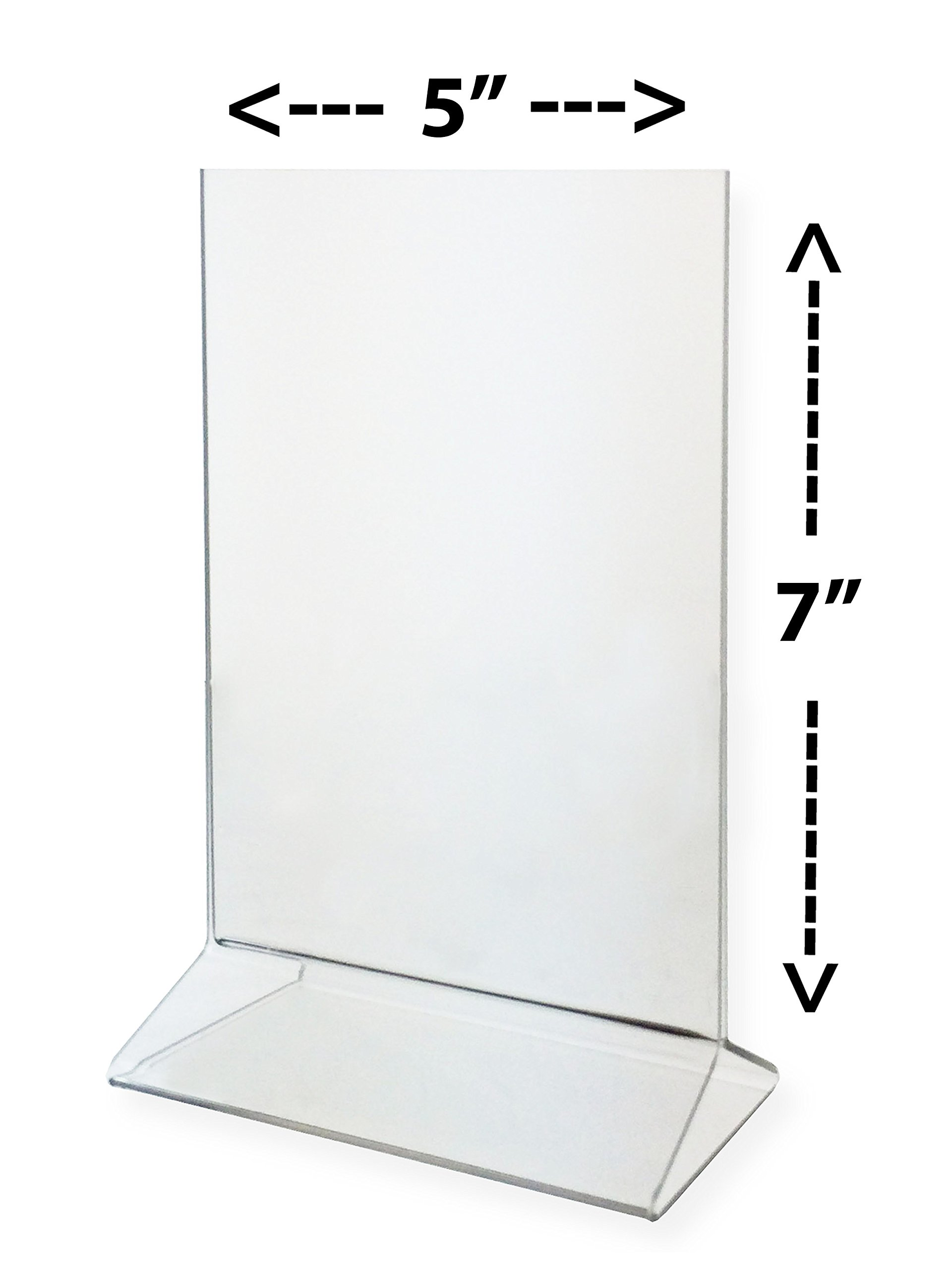 CipheRave Pack of 3 - Double Sided, Clear Acrylic Sign Holder, Ad Frame 5 x 7, Market Display for Menus, Promotions, Ads, and more!