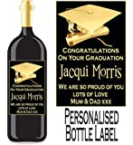 Eternal Design Personalised Graduation Wine/Spirit Bottle Label GDWL 1