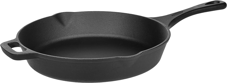 AmazonBasics - Sartén en hierro fundido pretratado - 30,5 cm