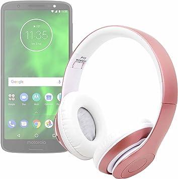 DURAGADGET Auriculares Plegables inalámbricos en Color Rosa para ...