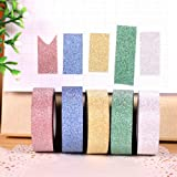 Glitter Colorful Glitter Tape Rolls For Arts, Crafts And Other Creative Projects (Color May Vary)