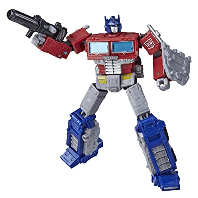 Transformers Toys Generations War for Cybertron: Earthrise Leader WFC-E11 Optimus Prime Action Figure - Kids Ages 8 and Up, 7-inch: Toys & Games