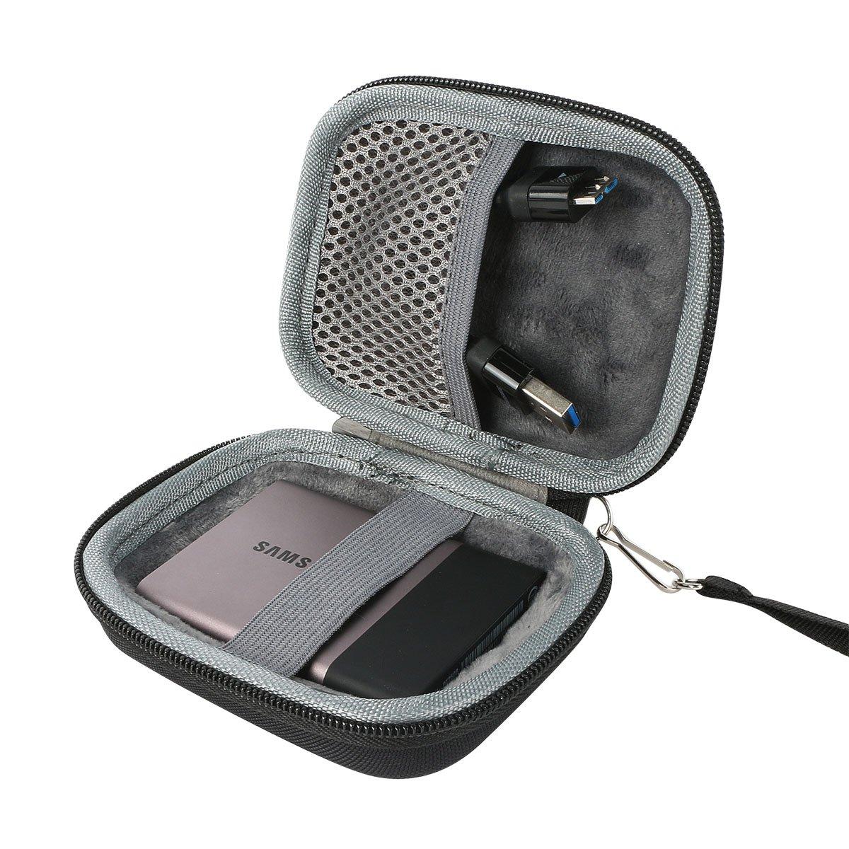 co2CREA Hart Reise Schutz H/ülle Etui Tasche f/ür Samsung Portable SSD T3 T5 250GB //500GB //1TB //2TB External Solid State Drive Rot//F/ür 2 SSD