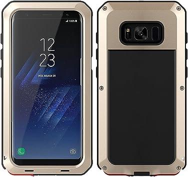 MRSMR Funda Samsung Galaxy S8 Plus, Prueba de Golpes Anti-Arañazos Doble Capa Armadura Proteccion Cover Case Caso Funda Cáscara para Samsung S8 Plus-Gold (Sin Pantalla de Vidrio): Amazon.es: Electrónica