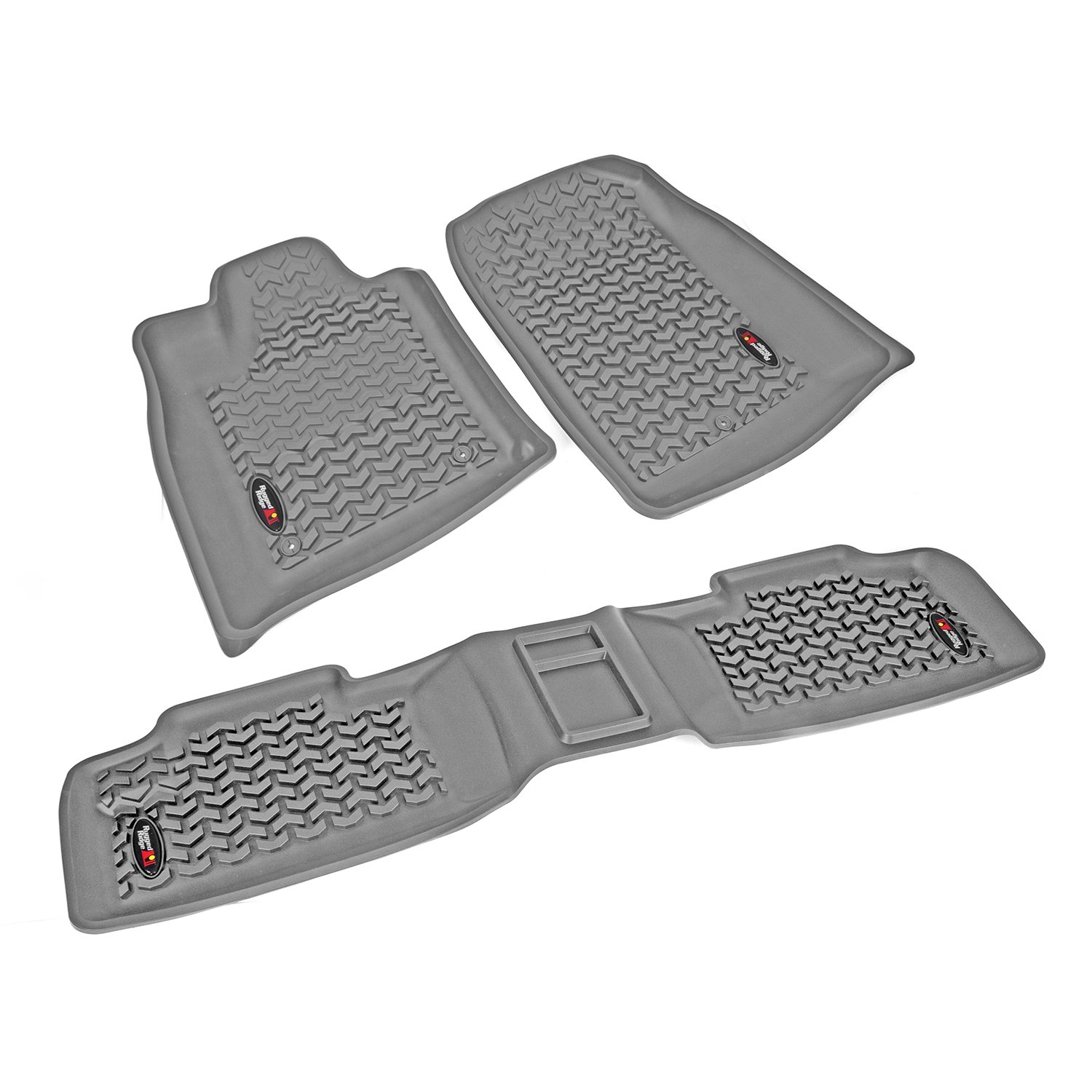 Rugged Ridge All-Terrain 14987.24 Gray Front and Rear Floor Liner Kit For Select Jeep Grand Cherokee Models