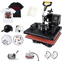 Slendor Heat Press 5 in 1 Heat Press 12x15 inch Machine 360-Degree Swing Away Digital Multifunction Sublimation Combo…