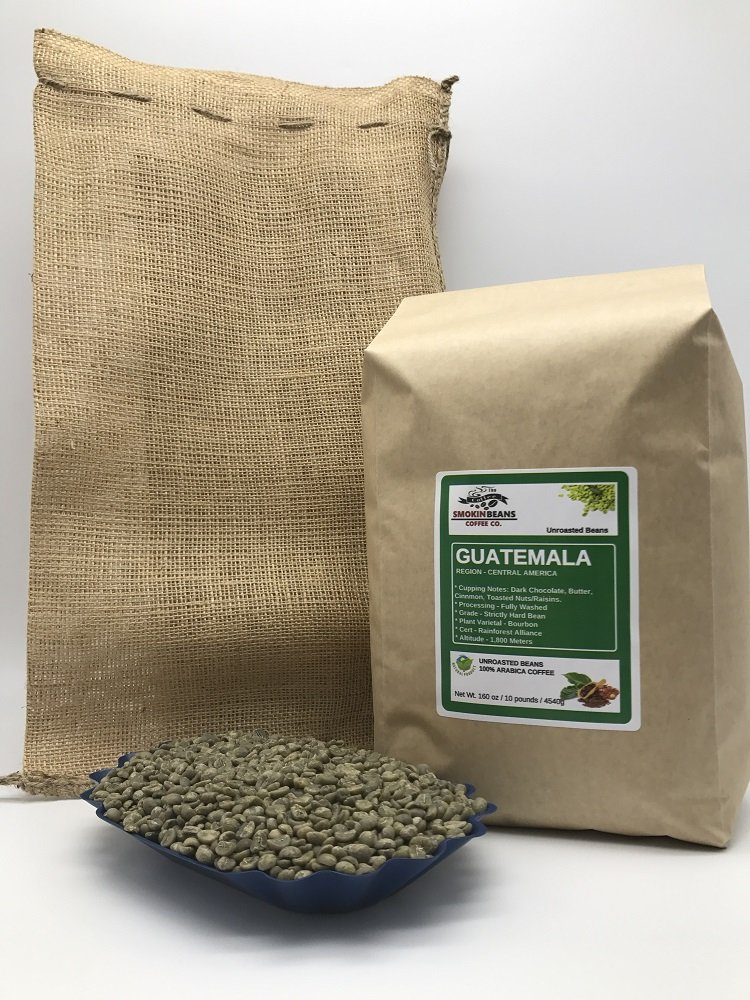 10 LBS – GUATEMALA (includes a FREE BURLAP BAG) Specialty-Grade, CURRENT-CROP Green Unroasted Coffee Beans – Finca Nueva Granada – This Farm Implements Impressive Sustainable Farming Practices