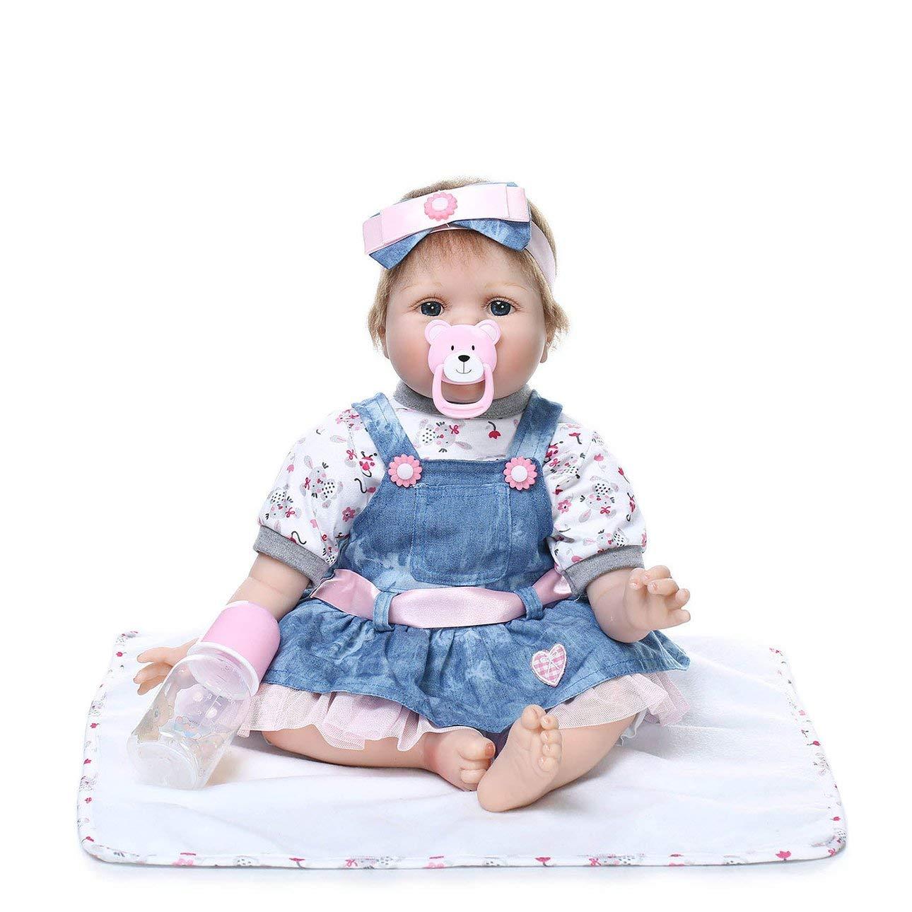 Ballylelly Popular Suave Realista Realista Bonito Encantador Reborn Baby Doll Jugar en casa Juguetes Baby Dolls Juguete Maravilloso Regalo de cumpleaños