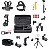 ParaPace 16 in 1 Action Camera Accessory Kit for GoPro Hero 8/7/6/5/4/3+ Hero Session 5 Black Fusion Accessories DJI OSMO Action Yi AKASO SJ4000/SJ5000/SJ6000 DBPOWER Rollei Campark
