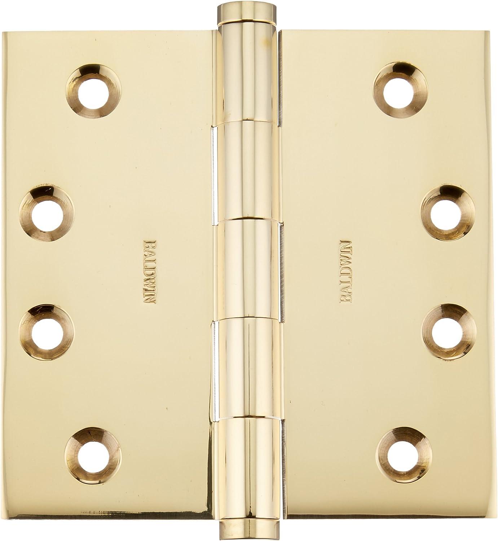 Baldwin 1040031I Square Mortise Hinge Unlacquered Bright Brass