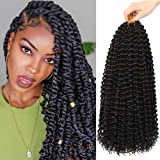 6Packs Passion Twist Hair 18Inch Water Wave Crochet Hair for Passion Twist Crochet Braiding Hair Long Bohemian Hair…