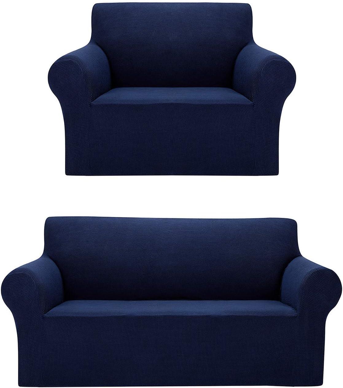 AlGaiety Chair Slipcover Bundles Loveseat Slipcover Navy