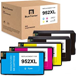 BUNTONER Remanufactured Ink Cartridges Replacement for HP 952 XL 952XL use with HP OfficeJet Pro 8720 8710 7740 8715 8702 8740 8210 (2 Black, 1 Cyan, 1 Magenta, 1 Yellow, 5-Pack)