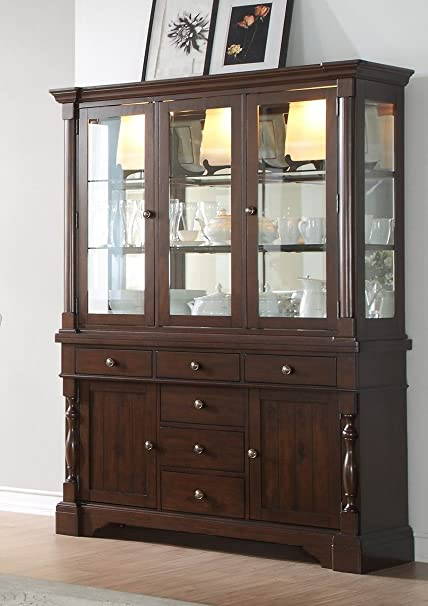 Amazon Com County Cottage Dark Brown Dining Furniture Buffet