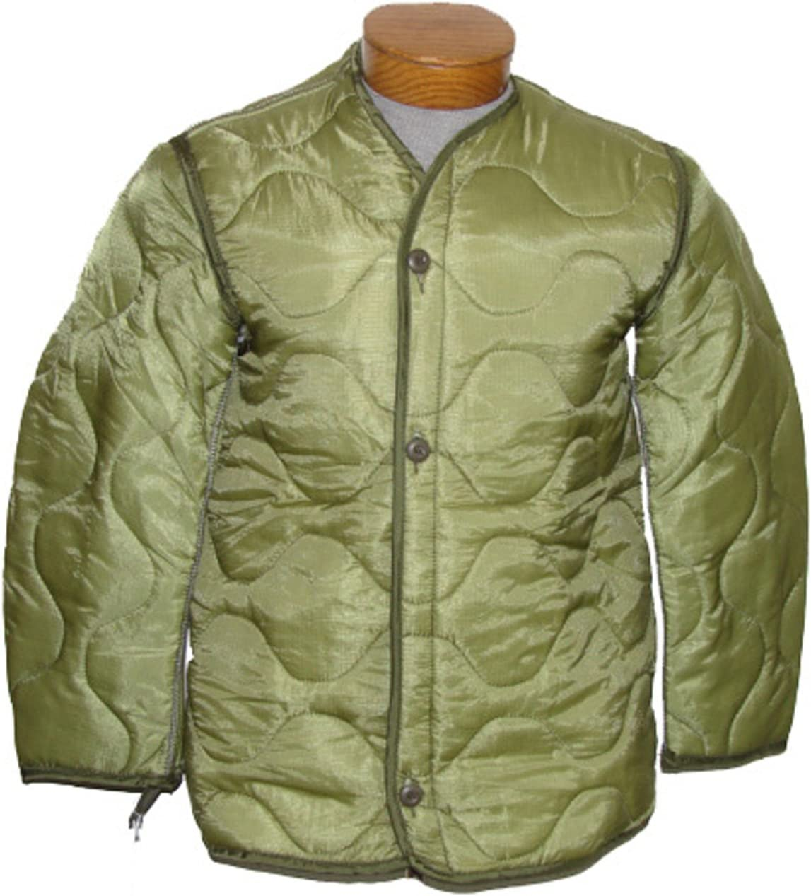 Military Outdoor Clothing Previously Issued U.S. G.I. Nylon M-65 Coat Liner: Sports & Outdoors