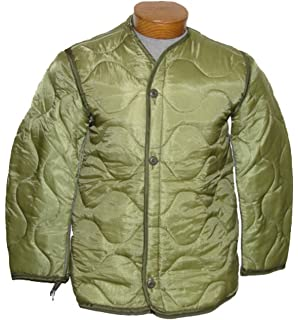 Amazon.com : Foliage Green Quilted M-65 Field Jacket Liner, U.S. ... : quilted jacket liner - Adamdwight.com