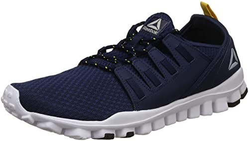 Reebok Men s Identity Flex Xtreme Lp Coll Navy Primal Yellow Running Shoes-10  UK e78f7a1b9