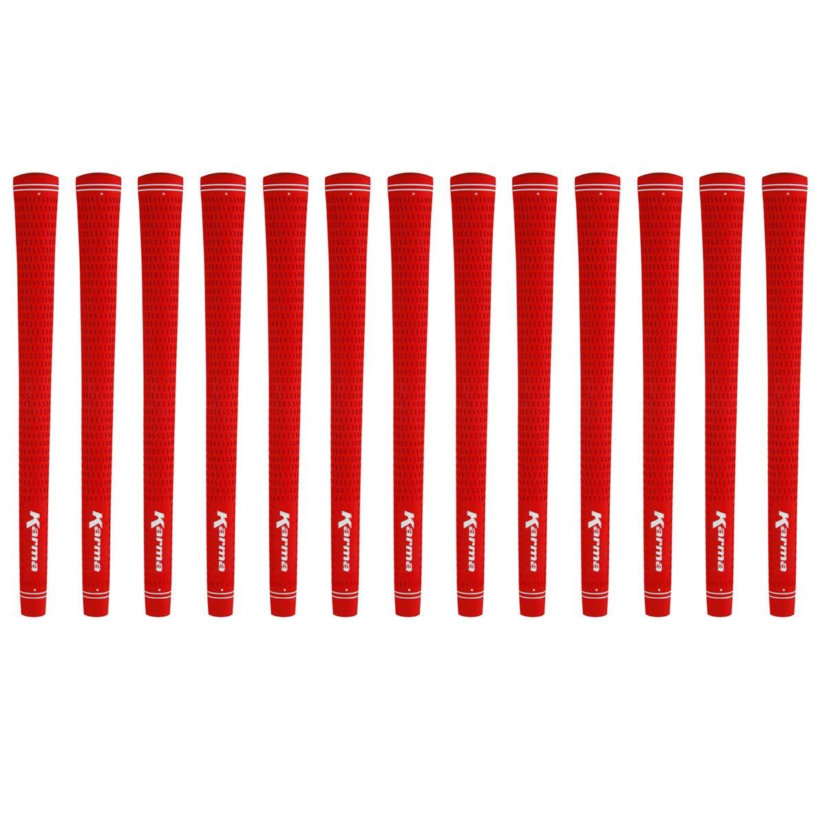 Karma Velour Red Midsize (+1/32'') 13 piece Golf Grip Bundle by Karma