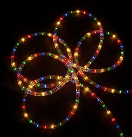 18' Multi-Color Indoor/Outdoor Christmas Rope Lights - Amazon.com: 18' Multi-Color Indoor/Outdoor Christmas Rope Lights