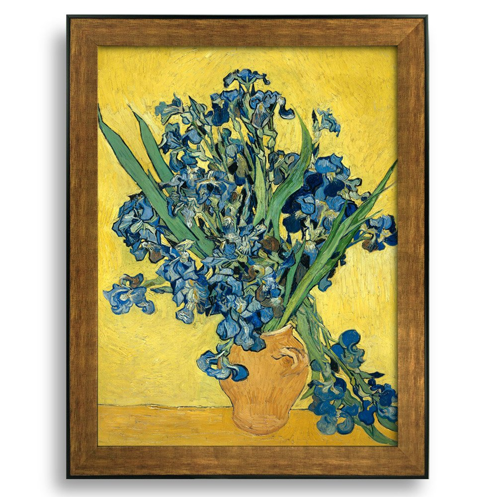 Irises by Vincent Van Gogh Framed Art Print Famous Painting Wall ...
