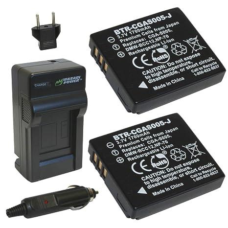 Amazon.com: Wasabi Power Batería (2-Pack) y cargador para ...
