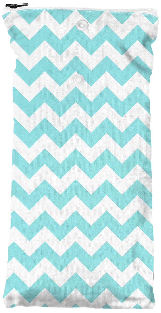 Planet Wise Wipe Pouch, Teal Chevron PWWIPOTealChevr