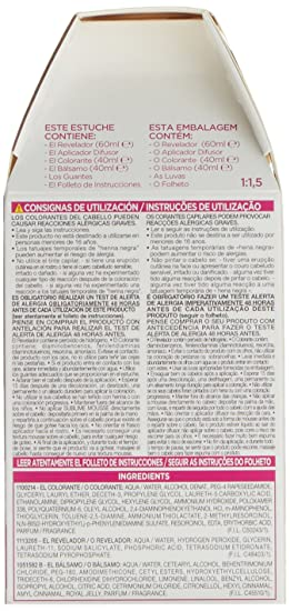 LOréal Paris Sublime Mousse Coloración Permanente, Tono: 600 Castaño Claro Natural - 200 g: Amazon.es: Amazon Pantry