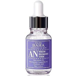 Niacinamide 5% + Arbutin 5% Serum 1oz With Hyaluronic Acid - Skin Brightening + Diminishes Acne + Treating Pigmentations + Age Spots, 1oz (30ml)