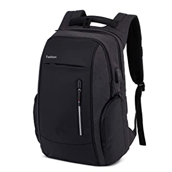 1e9c359764 Xnuoyo Sac à Dos Ordinateur Portable, 17,3 Pouces Laptop Backpack Étanche  Sac à Bandoulière Laptop avec Chargeur USB ...