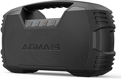 AOMAIS GO Bluetooth Speakers, 40H Playtime Outdoor Portable Speaker, 40W Stereo Sound Rich Bass, IPX7 Waterproof Bluetooth 5.0 Wireless Pairing,10000mAh Power Bank, for Party, Travel 2020 Upgrade