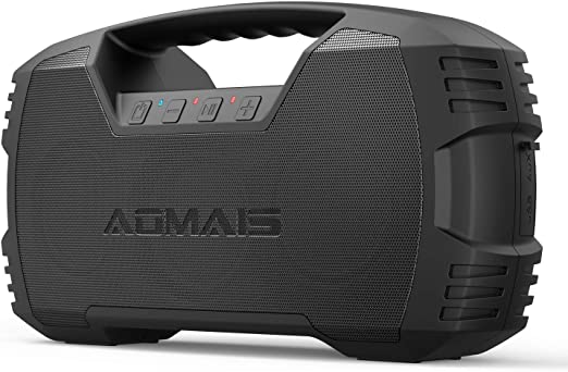 Amazon.com: AOMAIS GO Bluetooth Speakers, 40H Playtime Outdoor Portable Speaker, 40W Stereo Sound Rich Bass, IPX7 Waterproof Bluetooth 5.0 Wireless Pairing,10000mAh Power Bank, for Party, Travel(2020 Upgrade): Electronics