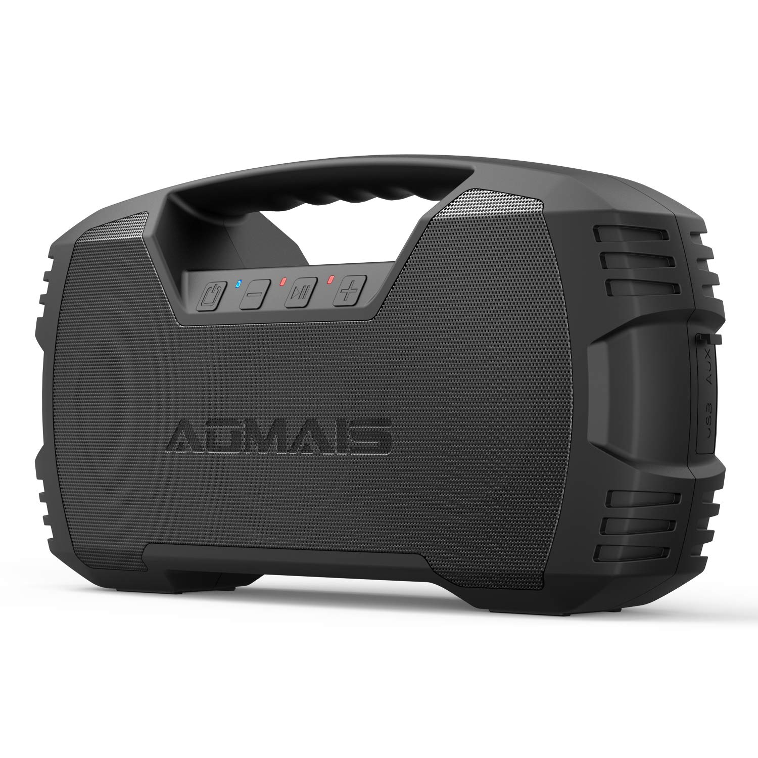 AOMAIS GO Bluetooth Speakers,Waterproof Portable Indoor/Outdoor 30W Wireless Stereo Pairing Booming Bass Speaker,30-Hour Playtime with 8800mAh Power Bank,Durable for Home Party,Camping(Black) by AOMAIS
